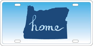 Oregon state license plate vector Stock Images