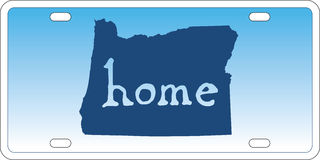 Oregon state license plate vector Stock Photos