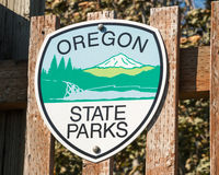 Oregon State Parks Sign Royalty Free Stock Photo