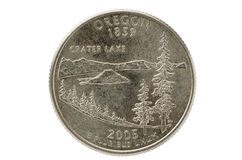 Oregon State Quarter Coin Stock Photos