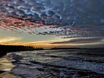 Oregon coast sunset stock photography