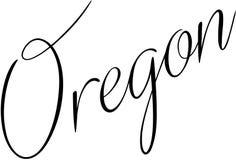 Oregon text sign illustration Royalty Free Stock Photos