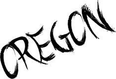 Oregon text sign illustration Royalty Free Stock Photo