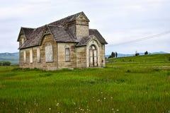 Oregon trail, Ovid, Idaho, former Mormon church Stock Images