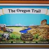 Oregon trail start screen Royalty Free Stock Photos