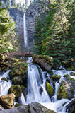 Oregon-Umpqua National Forest-Rogue-Umpqua Scenic Byway-Watson Falls Royalty Free Stock Image
