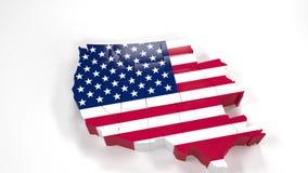 oregon USA e mapa polityczny u Oregon stanu mapa 6 royalty ilustracja