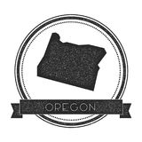 Oregon vector map stamp. Stock Images