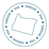 Oregon vector map sticker. Royalty Free Stock Image