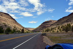 Oregon vista and road. Royalty Free Stock Images