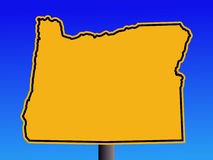 Oregon warning sign Royalty Free Stock Images