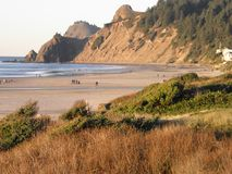 Oregon wybrzeże przy Gruntową ` s końcówką, Lincoln miastem/ Zdjęcie Stock