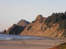 Oregon wybrzeże przy Gruntową ` s końcówką, Lincoln miastem/ Zdjęcie Royalty Free