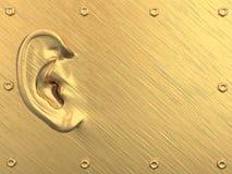 Oreille d'or sur le fond modifié abstrait illustration stock