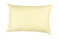 Oreiller avec la caisse jaune d'oreiller Photo stock