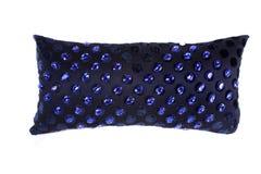 Oreiller bleu de pierres gemmes Photographie stock libre de droits