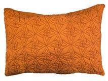 Oreiller décoratif orange Photo libre de droits
