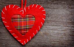 Oreiller de coeur de Saint Valentin Images libres de droits