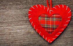 Oreiller de coeur de Saint Valentin Photos libres de droits