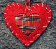 Oreiller de coeur de Saint Valentin Images stock