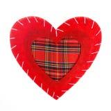 Oreiller de coeur de Saint Valentin d'isolement Images libres de droits