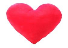 Oreiller de rouge d'amour de coeur Photographie stock libre de droits
