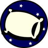 Oreiller de sommeil Image libre de droits