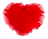 Oreiller sous forme de coeur, encadré par le ruban Photographie stock