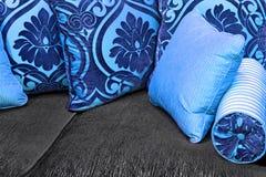 Oreillers bleus Images stock