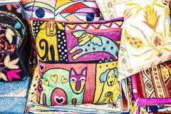oreillers colorés Images libres de droits