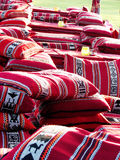 Oreillers colorés arabes Photos libres de droits