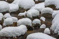 Oreillers de neige Photographie stock