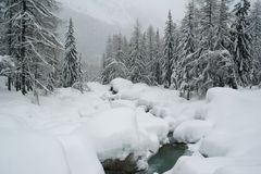 Oreillers de neige Image stock