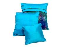 Oreillers et caisses en soie d'oreillers photographie stock