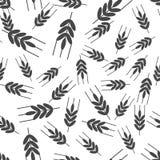 Oreilles d'ic?ne de vecteur de bl?, c?r?ale Oreille d'avoine Modèle sans couture d'oreilles de rue sur un fond blanc illustration de vecteur