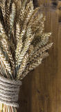 Oreilles de blé sur le conseil en bois Photographie stock libre de droits