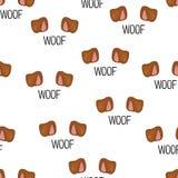 Oreilles de chien d'isolement Illustration de vecteur Configuration sans joint trame Photos stock