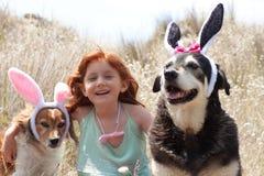 Oreilles de lapins de Pâques Images libres de droits
