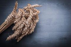 Oreilles de Rye dans le groupe sur le conseil en bois Image libre de droits