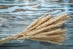 Oreilles de Rye sur le panneau en bois de vintage Photo stock
