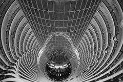 Oreillette à l'intérieur de Jin Mao Tower, Changhaï, Chine Images stock