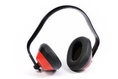 Orejeras de la protección de oído Imágenes de archivo libres de regalías