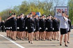 Orel, Rússia - 9 de maio de 2015: Celebração do 70th aniversário Imagens de Stock Royalty Free