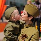 Orel, Rússia - 9 de maio de 2016: Celebração do 71th aniversário de t Imagens de Stock