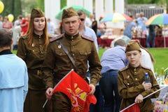 Orel, Rússia - 9 de maio de 2016: Celebração do 71th aniversário de t Foto de Stock