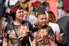 Orel, Rússia - 9 de maio de 2016: Celebração do 71th aniversário de t Imagens de Stock Royalty Free