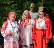 Orel, Rússia - 9 de maio de 2016: Celebração do 71th aniversário de t Fotografia de Stock
