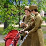 Orel, Rússia - 9 de maio de 2016: Celebração do 71th aniversário de t Fotos de Stock