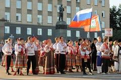 Orel, Rússia, o 4 de agosto de 2015: Festival popular de Orlovskaya Mozaika, Imagem de Stock Royalty Free
