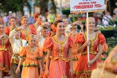 Orel, Rússia, o 4 de agosto de 2015: Festival popular de Orlovskaya Mozaika, Imagens de Stock